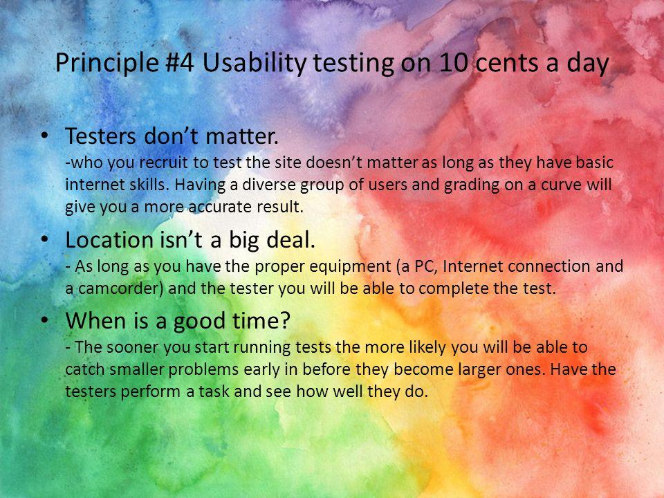 Principle #5 Usability as common courtesy Representation - The website represents you/the company.