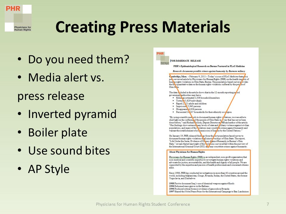Creating Press Materials Do you need them. Media alert vs.