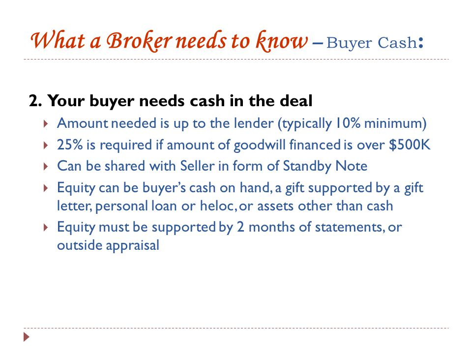 What a Broker needs to know – Business Plan : 3.