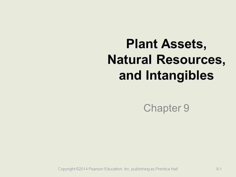 What Are Plant Assets.Long-lived, tangible assets used in the operation of the business.