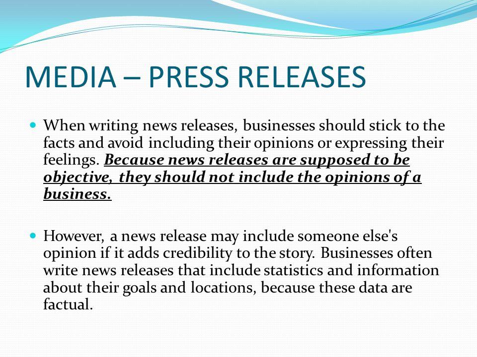 MEDIA – HONEST & PROFESSIONAL Positive relationships are built on trust.