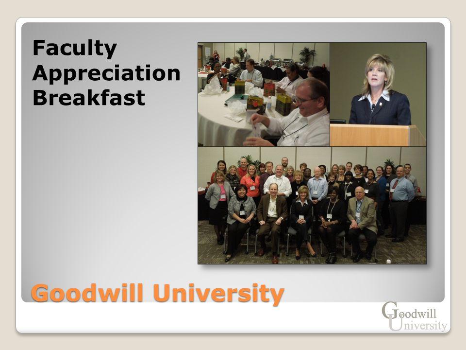 Goodwill University Faculty Appreciation Breakfast