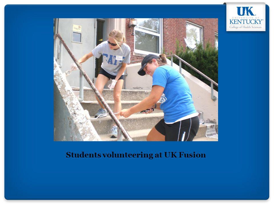 Students volunteering at UK Fusion