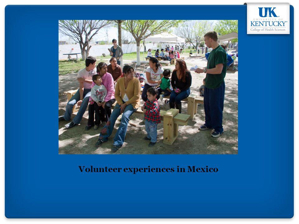 Volunteer experiences in Mexico