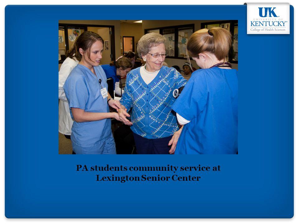 PA students community service at Lexington Senior Center