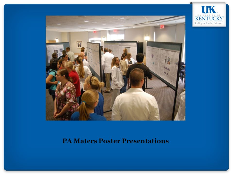 PA Maters Poster Presentations