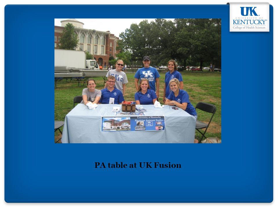 PA table at UK Fusion