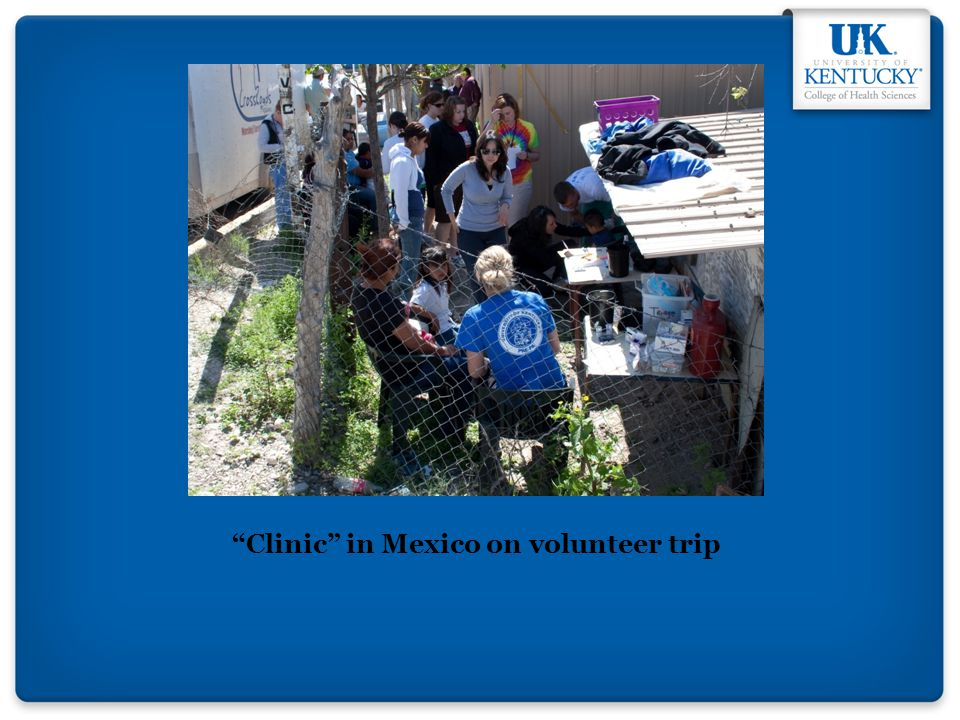 Clinic in Mexico on volunteer trip