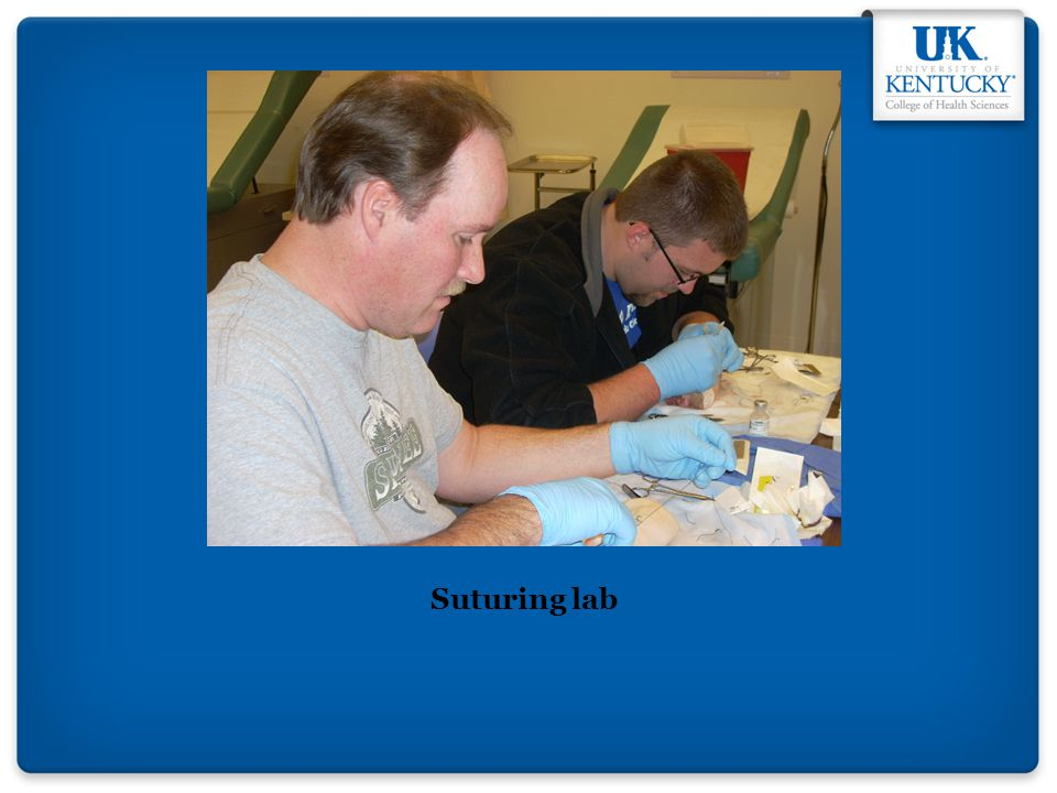 Suturing lab