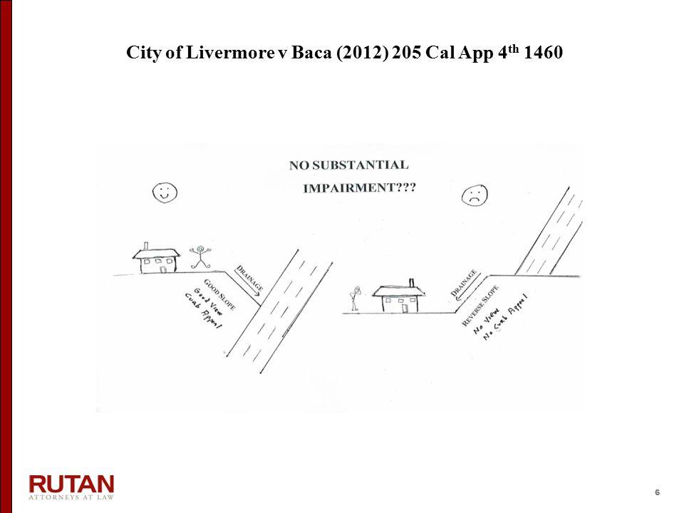 6 City of Livermore v Baca (2012) 205 Cal App 4 th 1460