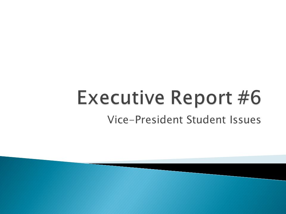 Vice-President Student Issues