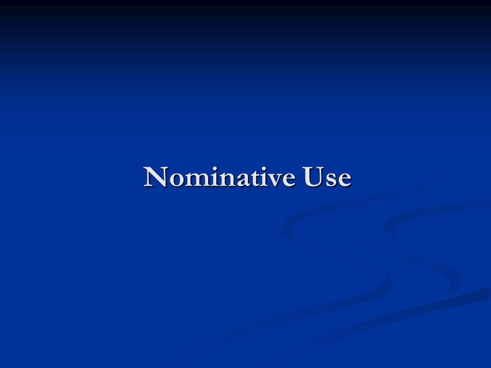 Nominative Use