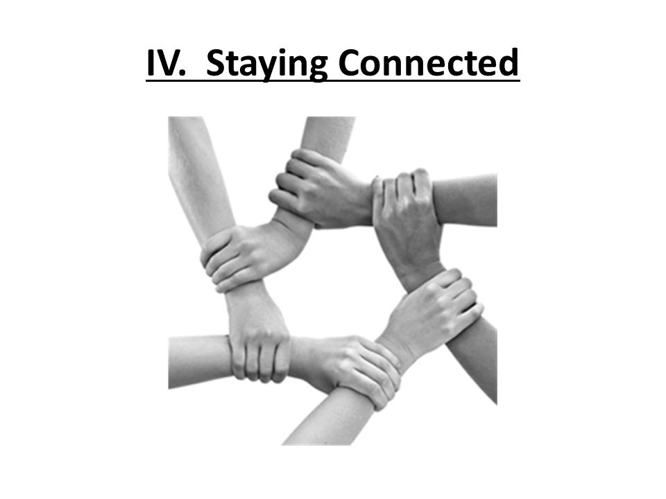 IV. Staying Connected