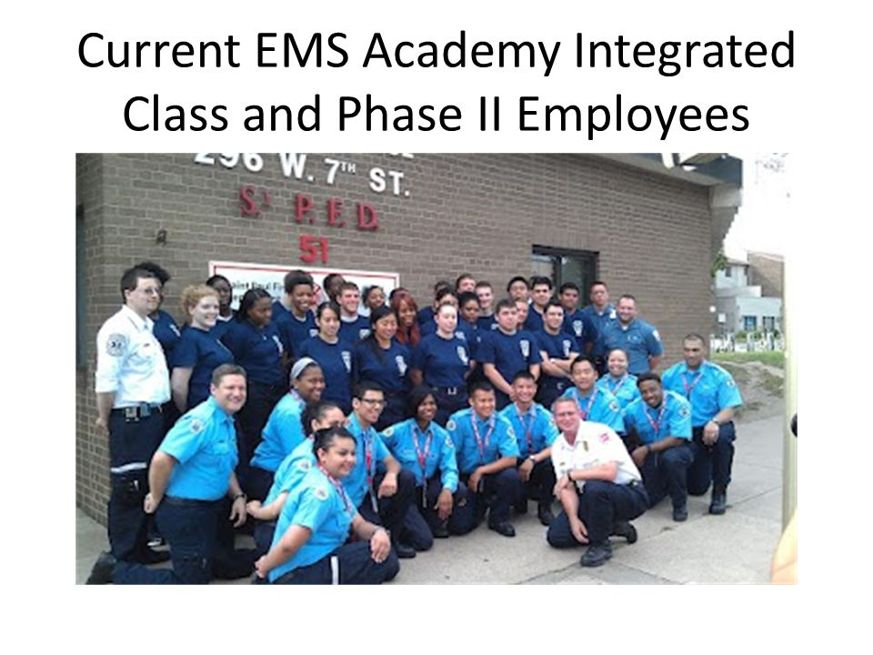 Current EMS Academy Integrated Class and Phase II Employees