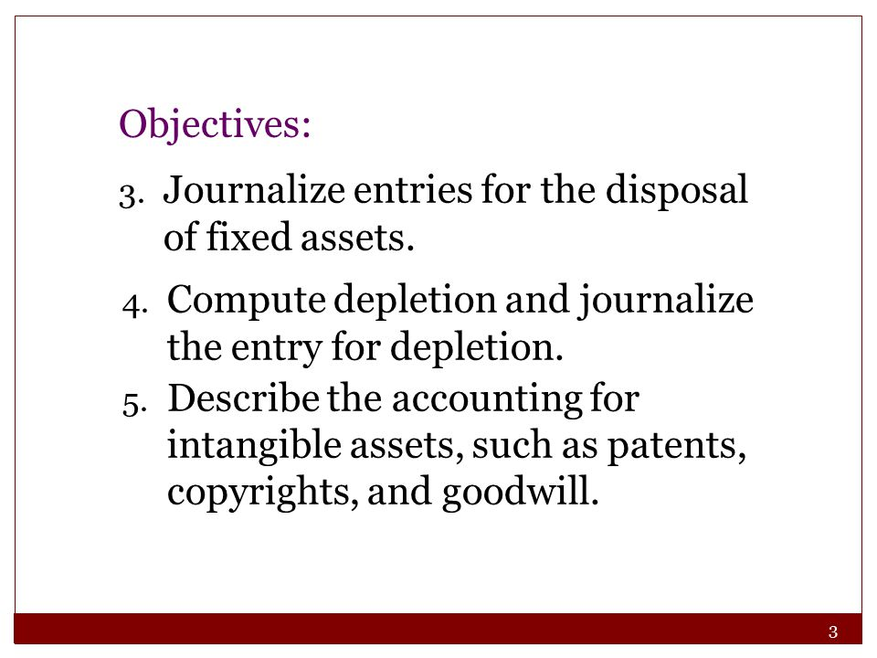 84 Describe the accounting for intangible assets, such patents, copyrights, and goodwill.