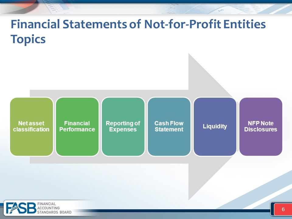 Net asset classification Financial Performance Reporting of Expenses Cash Flow Statement Liquidity NFP Note Disclosures Financial Statements of Not-fo