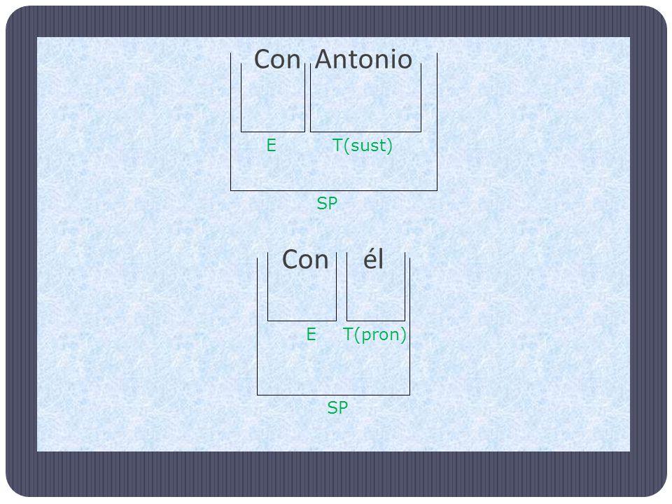 Con Antonio Con él SP ET(sust) SP T(pron)E