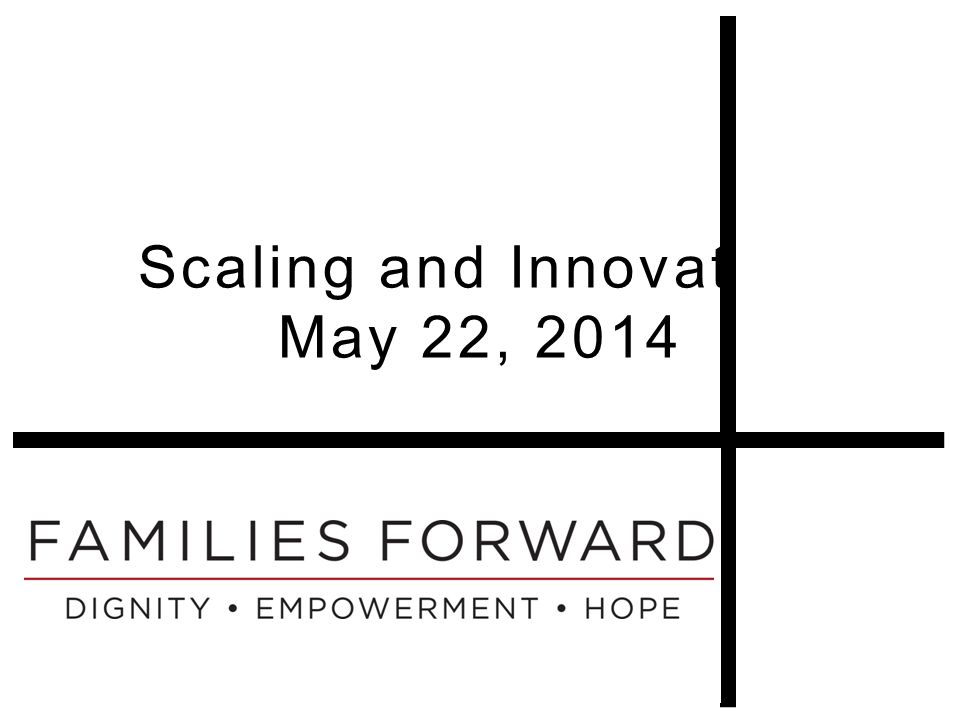 Scaling and Innovation May 22, 2014
