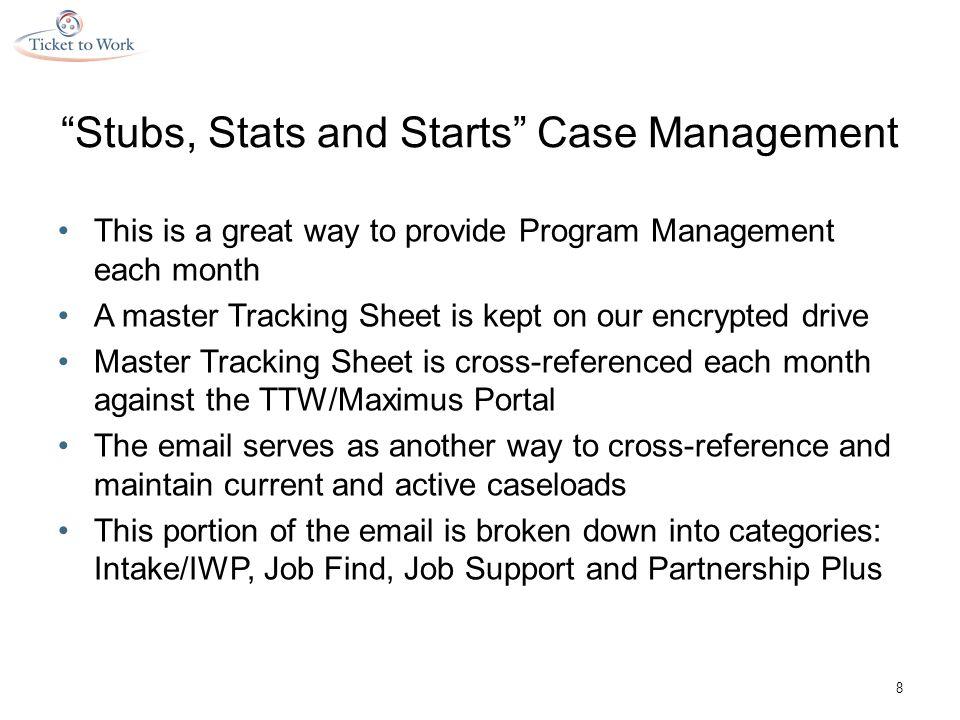 Stubs, Stats and Starts Partnership Plus 19