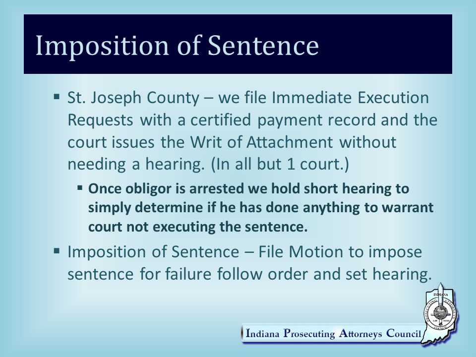Imposition of Sentence  St.