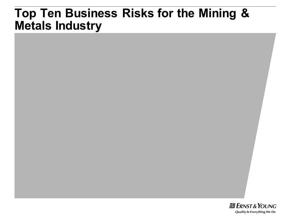 Top Ten Business Risks for the Mining & Metals Industry