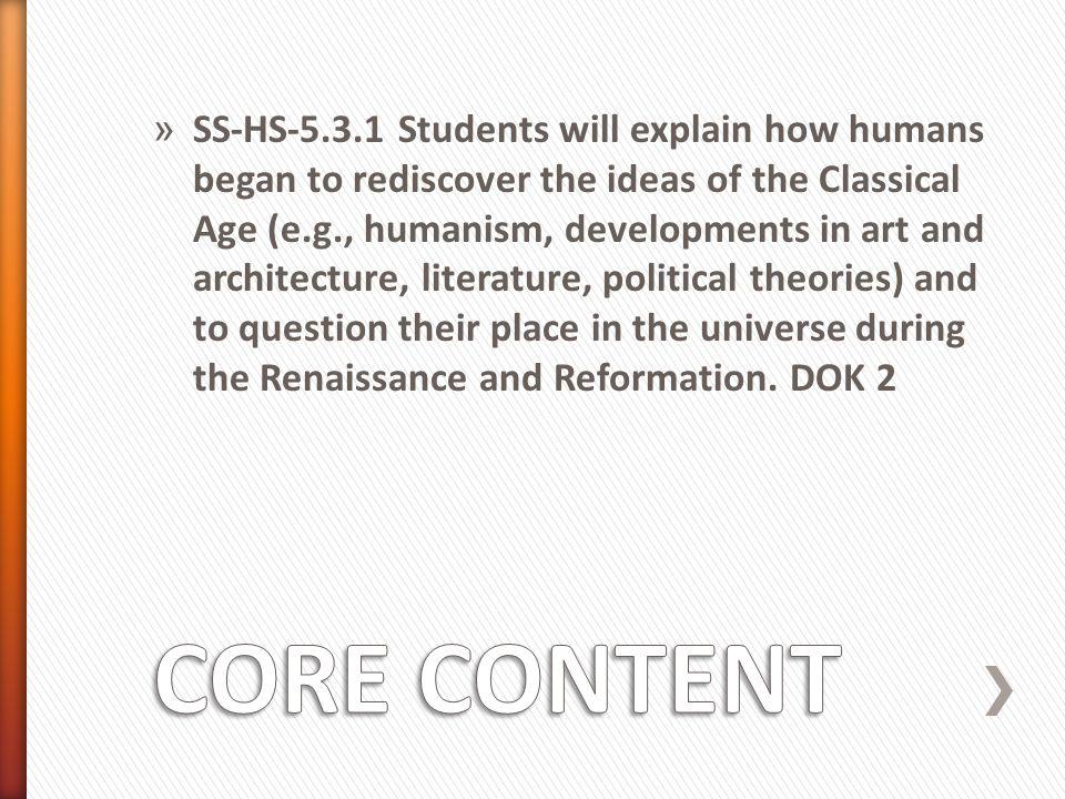 » & The Renaissance Report & The Renaissance Report