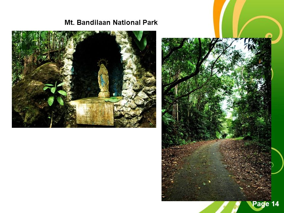Free Powerpoint Templates Page 14 Mt. Bandilaan National Park