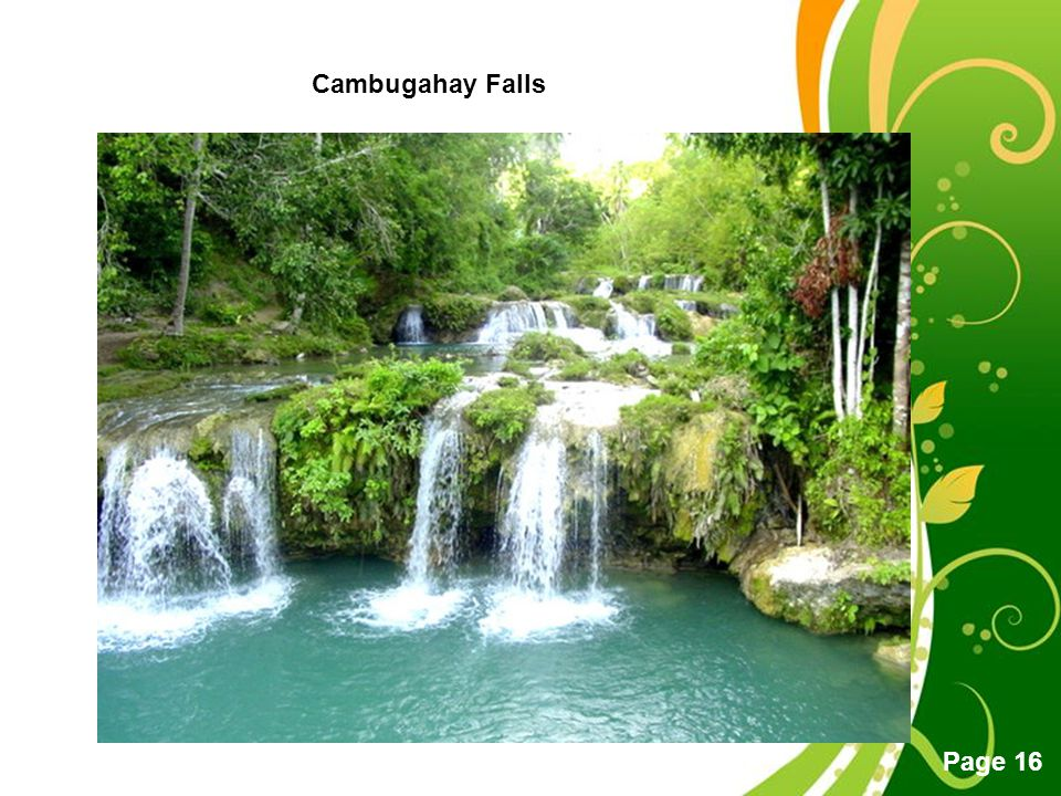 Free Powerpoint Templates Page 16 Cambugahay Falls