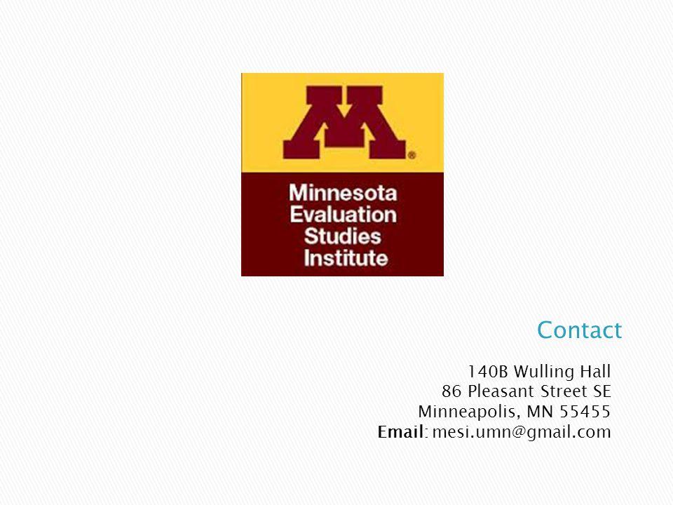 140B Wulling Hall 86 Pleasant Street SE Minneapolis, MN 55455 Email: mesi.umn@gmail.com
