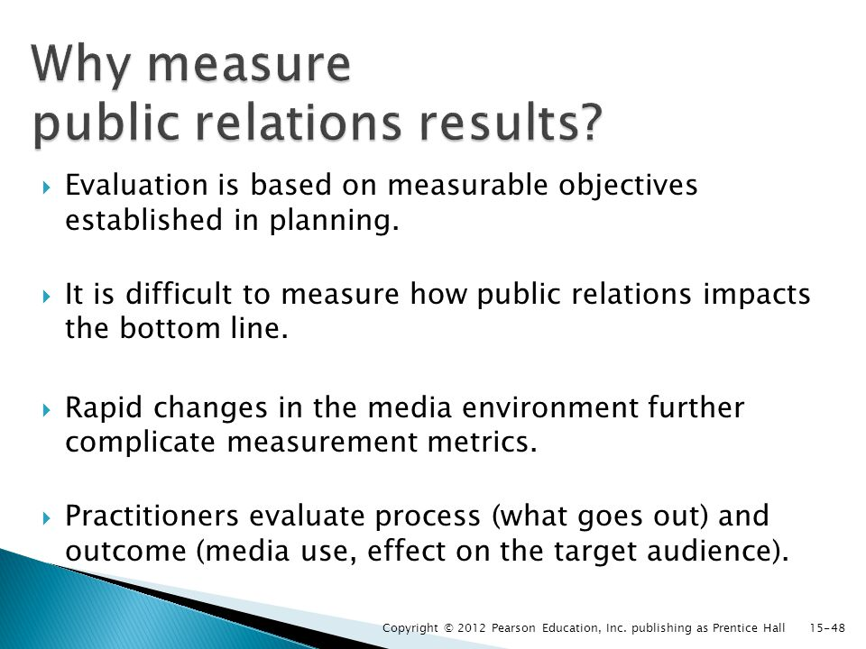  Evaluation is based on measurable objectives established in planning.