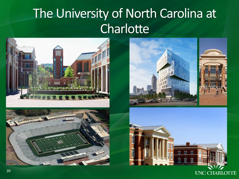 The University of North Carolina at Charlotte 20