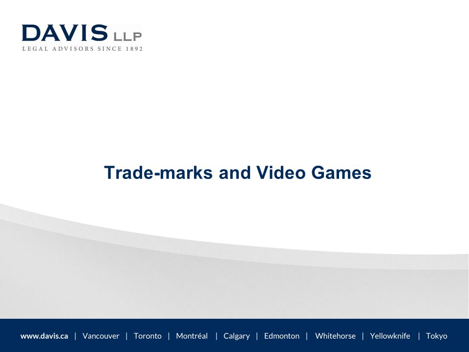 Trade-marks and Video Games