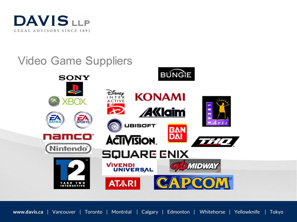 Video Game Suppliers