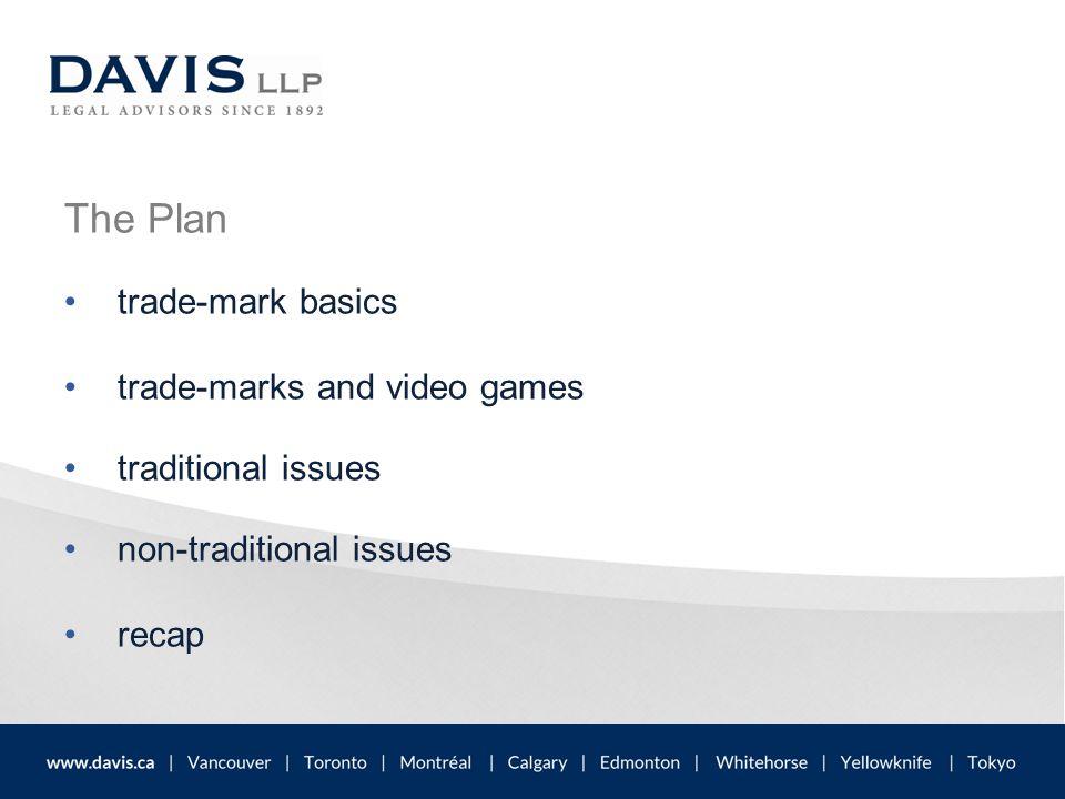 The Plan trade-mark basics trade-marks and video games traditional issues non-traditional issues recap