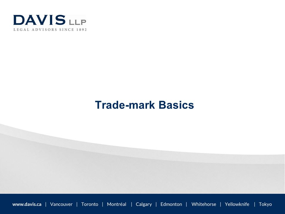 What is a trade-mark.