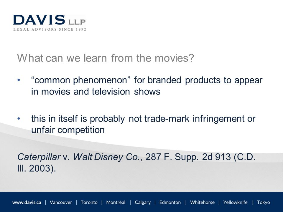 """What can we learn from the movies? """"common phenomenon"""" for branded products to appear in movies and television shows this in itself is probably not tr"""