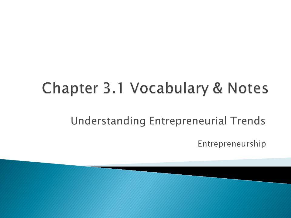 Understanding Entrepreneurial Trends Entrepreneurship