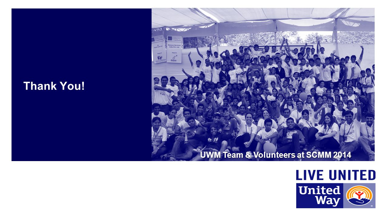 Thank You! UWM Team & Volunteers at SCMM 2014