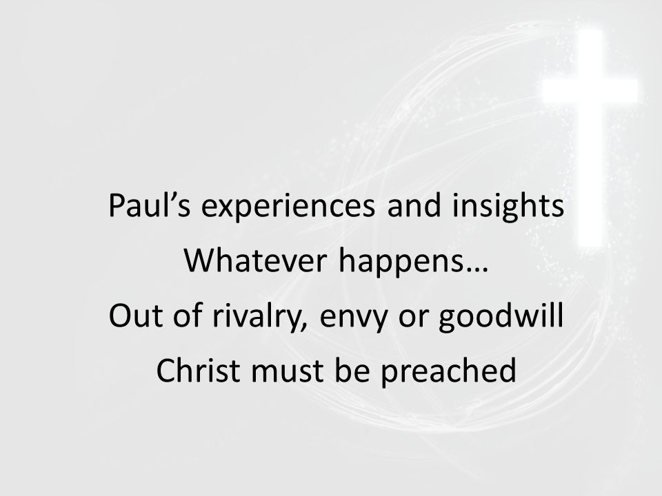 Paul's Testimony I have done my part His encouragement to us Stand as one in Christ His warning Be willing to suffer for what you believe