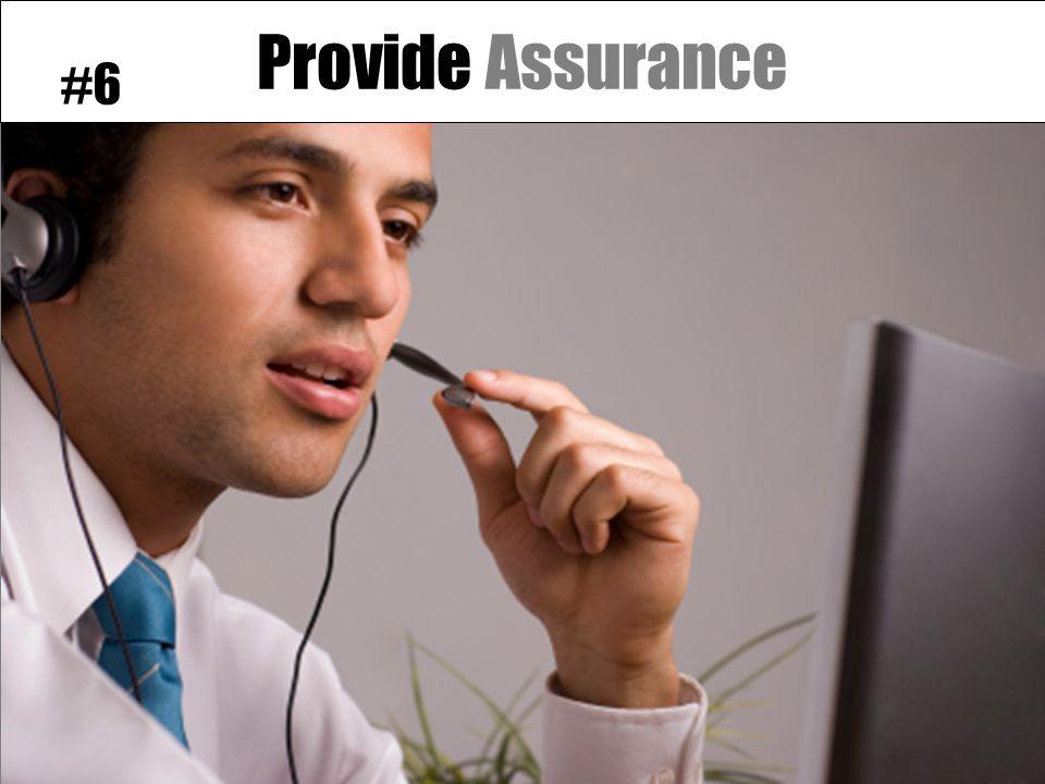 Provide Assurance #6