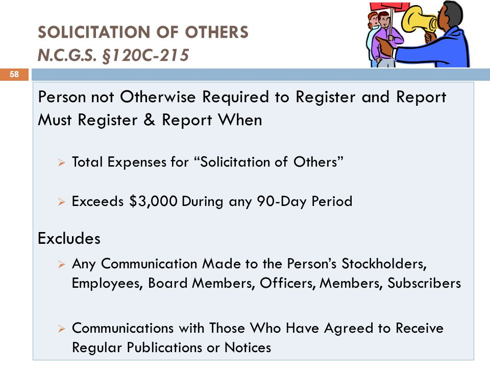 SOLICITATION OF OTHERS N.C.G.S.