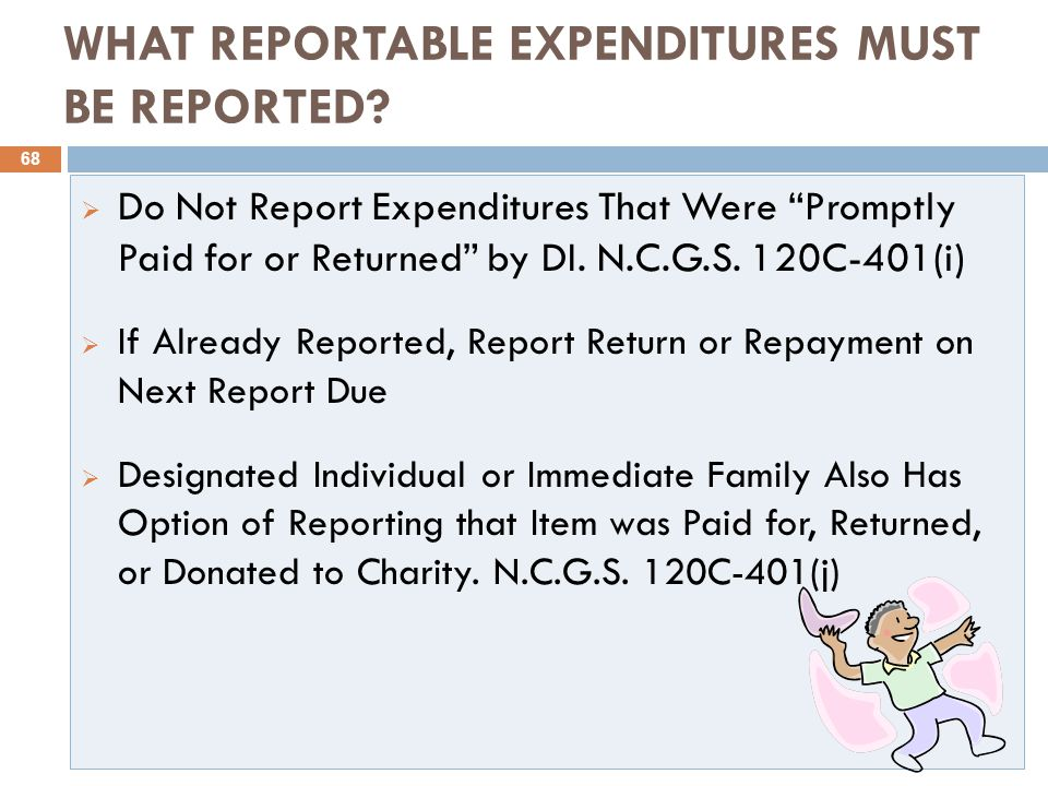 WHAT REPORTABLE EXPENDITURES MUST BE REPORTED.