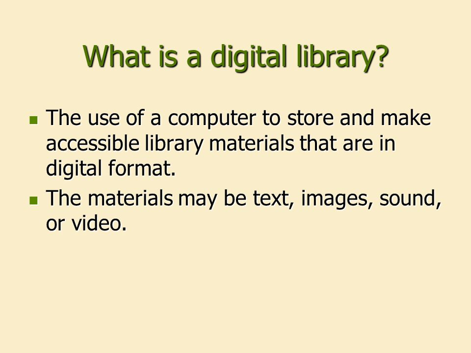 Convergence of concerns The transformation of libraries to digital environment The transformation of libraries to digital environment An academic interest in preserving historical resources An academic interest in preserving historical resources Led to our creation of a digital library