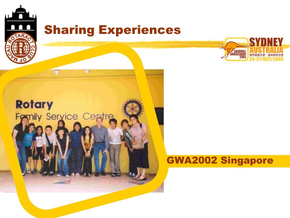 Sharing Experiences GWA2002 Singapore