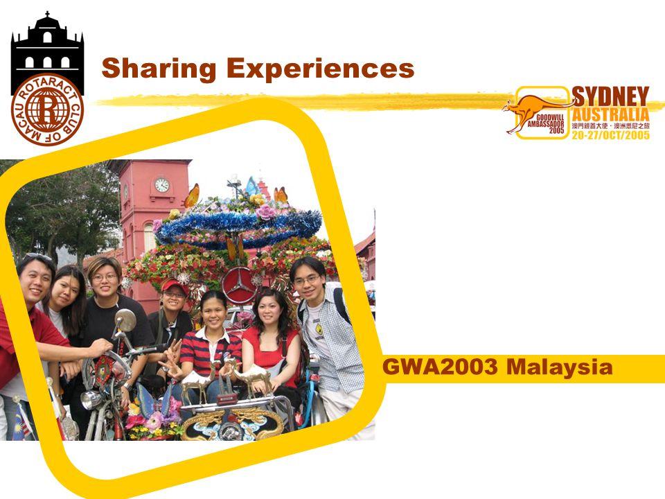 Sharing Experiences GWA2003 Malaysia