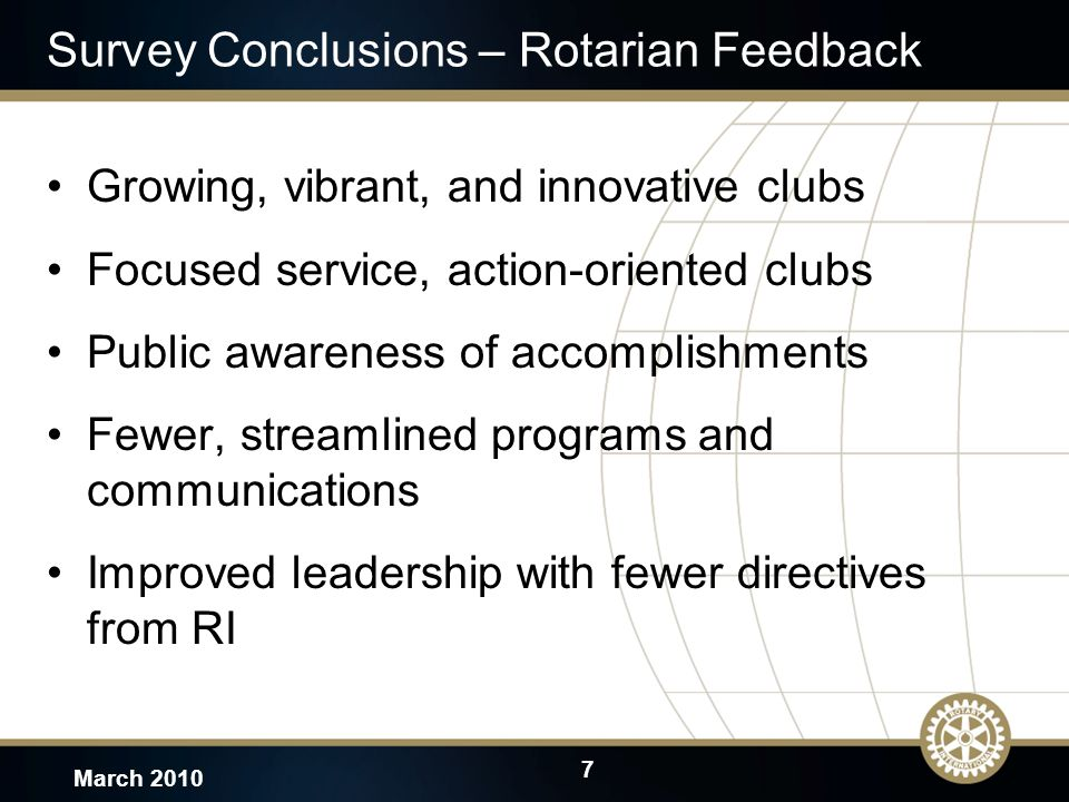8 March 2010 Image and brand recognition How can Rotary be the first choice for scarce volunteer resources?