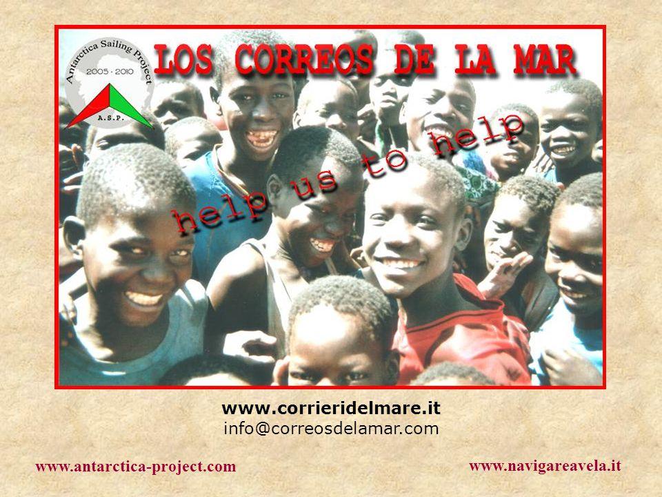 www.corrieridelmare.it info@correosdelamar.com www.antarctica-project.com www.navigareavela.it