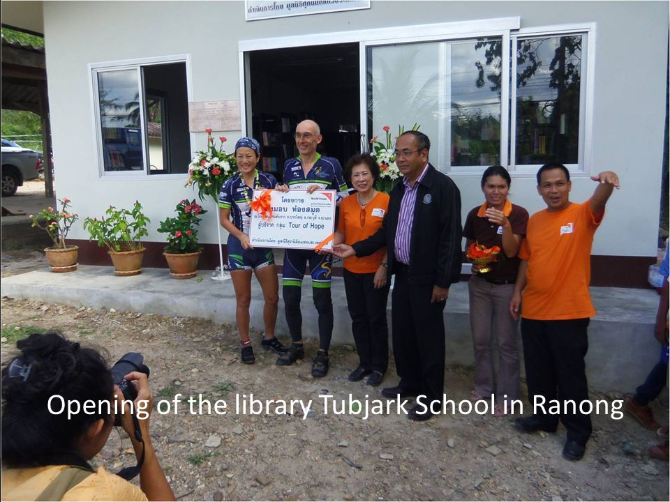 Opening of the library Tubjark School in Ranong