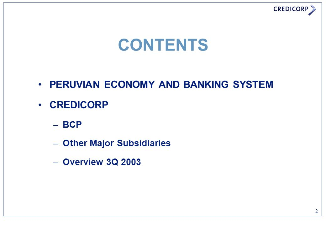 3 PERUVIAN ECONOMY AND BANKING SYSTEM