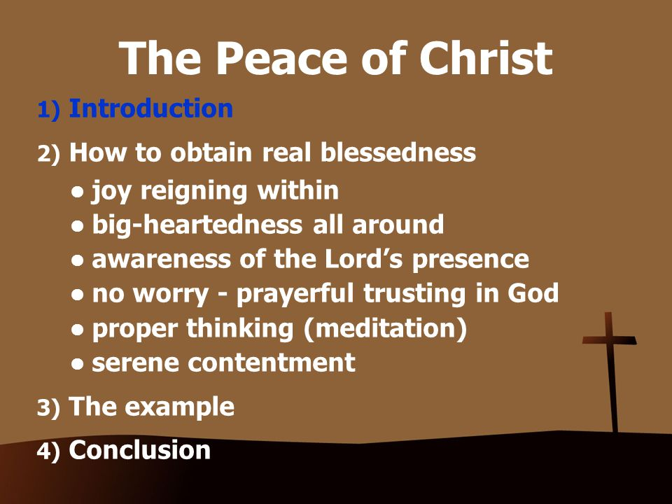 2) Obtaining real blessedness Awareness of the Lord's presence Engus – near in time or in space Engus – near in time or in space Here it refers to a sense of the Lord's presenceHere it refers to a sense of the Lord's presence The LORD who is near:The LORD who is near: Nothing is outside of His sovereign control or too difficult for Him to handle.